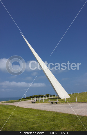 ETRETAT, NORMANDY, monument for Nungesser and Coli  stock photo, ETRETAT, NORMANDY, monument for Nungesser and Coli  by Chretien