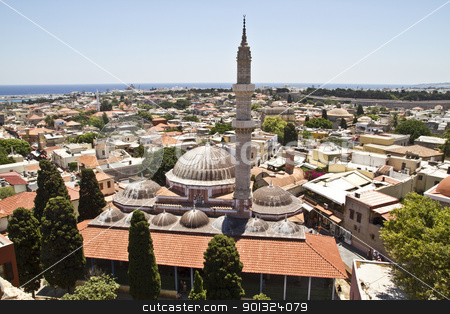 View of Rhodes Old Town  stock photo, View of Rhodes Old Town   by Sasas Design
