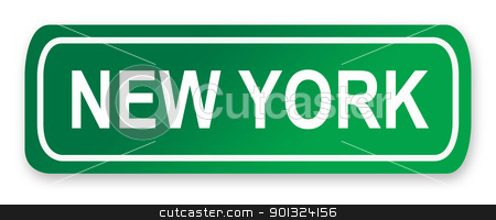 New York Street Sign stock photo, New York street or road sign isolated on white, America. by Martin Crowdy