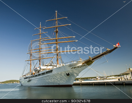 sailing ship stock photo, sailing ship on the dock by nevenm