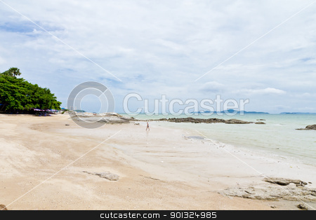 Beaches, rocky areas and sea. stock photo, Beaches, rocky areas. The sea east of Thailand. by Na8011seeiN
