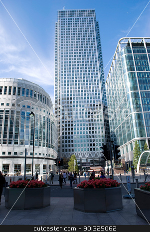 canary wharf stock photo, Canary Wharf famous skyscrapers of London's financial district by Desislava Dimitrova