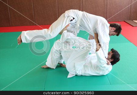 Judo hold down. stock photo, Judo hold down. by photography33