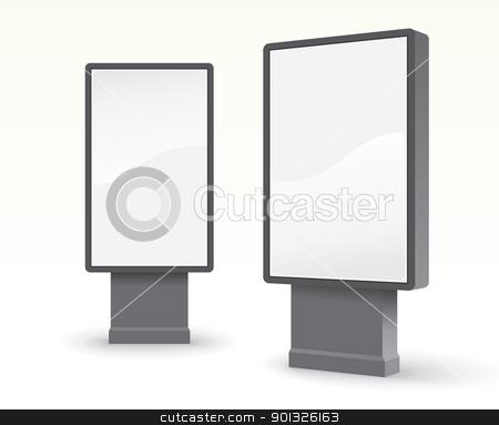 outdoor advertising citylight stock photo, outdoor advertising citylight - vector illustration by ojal_2