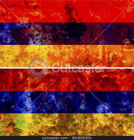 Armenia flag stock photo, some very old grunge flag of Armenia by michal812