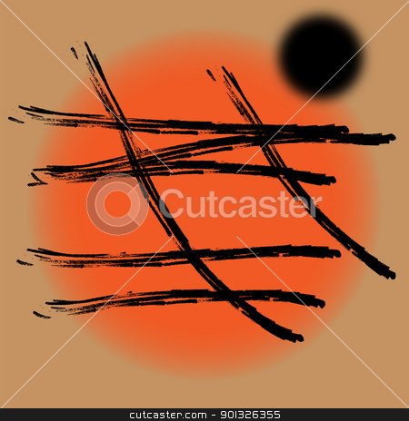 Abstract background Japanese style stock photo, Abstract contemporary background in the Japanese style by BELL1313