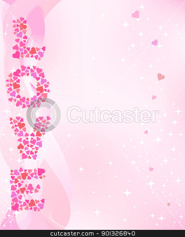 Valentine's day stock vector clipart, Valentine's day pink smoth background. by wingedcats