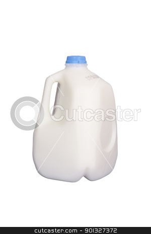 Gallon of Milk stock photo, Gallon of milk, isolated w/clipping path by Bryan Mullennix