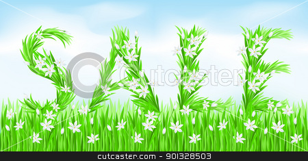 Eco-Style Grass Letters. stock photo, Eco-Style Grass Letters. Sale. Vector version letters is in my gallery. by dvarg