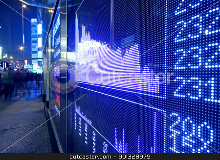 Real time quotes at the stock exchange.  stock photo, Real time quotes at the stock exchange.  by Keng po Leung