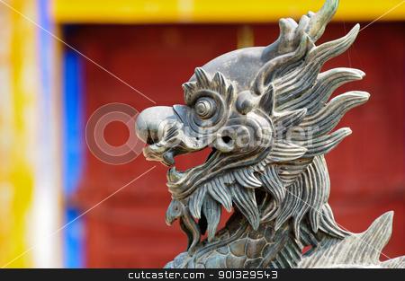 Stone lion, vietnam stock photo, Stone lion, vietnam by kowit sitthi