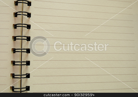 notebook paper sheet  stock photo, notebook paper sheet by kowit sitthi