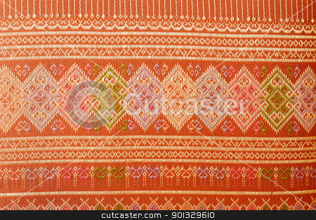 Thai fabric pattern and texture stock photo, Thai fabric pattern and texture by kowit sitthi