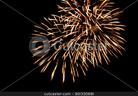 Firework streaks in the night sky stock photo, Firework streaks in the night sky by Evgeniy Krivoruchko