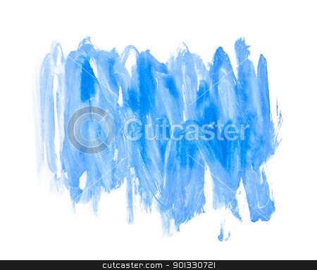 Blue Water Color Paint Texture stock photo, Blue Water Color Paint Texture by Evgeniy Krivoruchko