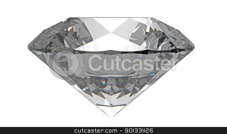 Diamond stock photo, diamond gemstone isolated on white by Borislav Marinic
