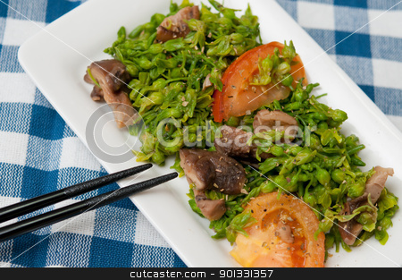 Asian unique dish stock photo, Unique vegetarian cuisine prepared with healthy ingredients. by Wai Chung Tang