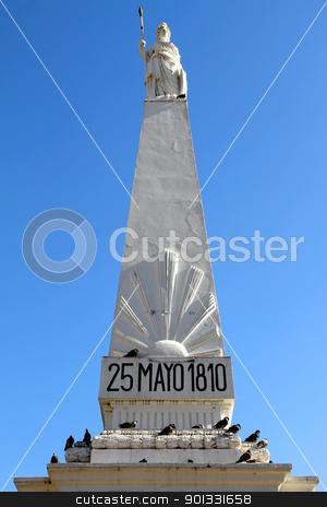 Piramide de Mayo stock photo, The landmark called
