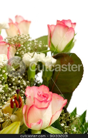 Bouquet stock photo, Bouquet flowers taken on a clean white background by Lars Christensen