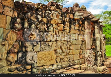 Statue at Angkor Wat, Cambodia stock photo, Statue at Angkor Wat, Cambodia by kowit sitthi