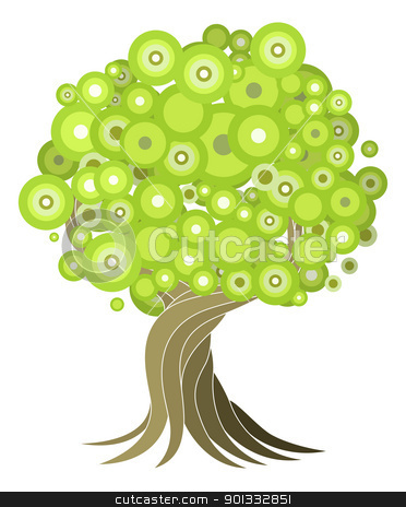 Abstract tree illustration stock vector clipart, An abstract stylised tree illustration design element. by Christos Georghiou
