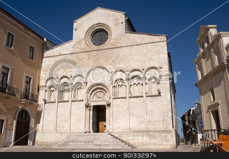 Termoli (Campobasso, Molise, Italy) - Cathedral facade stock photo, Termoli (Campobasso, Molise, Italy) - Cathedral facade by clodio