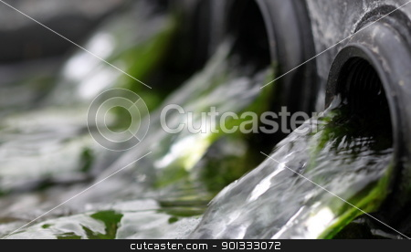 water stock photo, close up macro flow of water in a fountain by Henrik Lehnerer