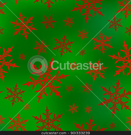 Christmas seamless pattern stock vector clipart, Christmas seamless pattern with snowflakes. by wingedcats