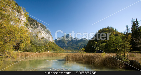 Beautiful autumn landscape in the Alps. stock photo, Beautiful autumn landscape in the Austrian Alps. by exvivo