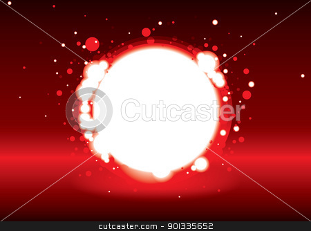 Hell hole stock vector clipart, Red abstract hell hole with bright glowing lights by Michael Travers