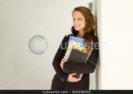 Happy young student girl. stock photo, Portrait of happy young student girl. by exvivo