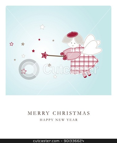 New year's card stock vector clipart, New year's card with copy space by LeonART