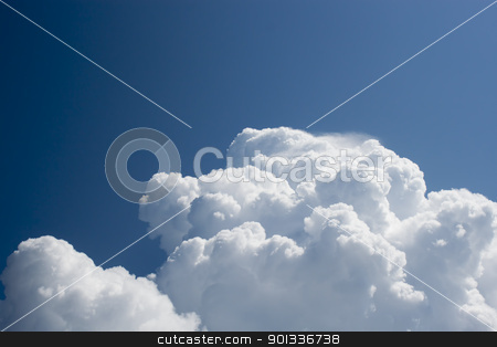 Thick clouds ascend higher and higher stock photo, Thick clouds ascend higher and higher by virin