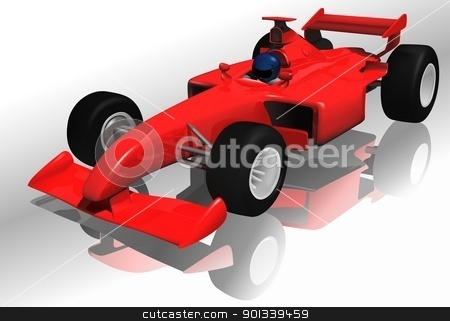 Formula One stock photo, Formula One - colored illustration by derocz