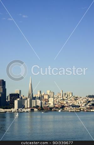 Sunrise in the city stock photo, Sunrise on San Francisco cityscape by Jeffrey Banke