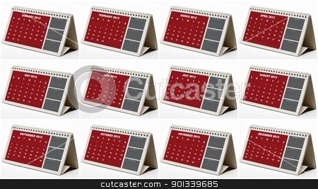 2012 Calendar stock photo, 2012 calendar of all months. by WScott