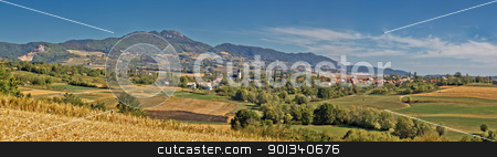 Amazing green natural scenery of Kalnik mountain stock photo, Amazing green natural scenery of Kalnik mountain, Croati, with village Dropkovec by xbrchx