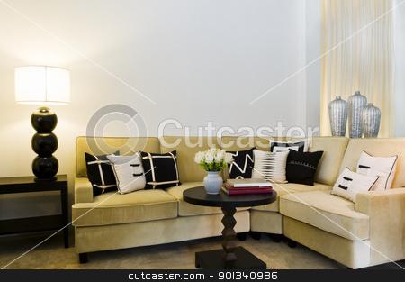 Contemporary sofa seating area  stock photo, Contemporary sofa seating area beautiful interior design by Ulrich Schade