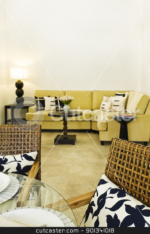 Contemporary sofa seating area stock photo, Contemporary sofa seating area beautiful interior design by Ulrich Schade