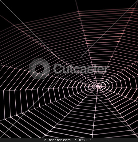 painted spiderweb stock photo, abstract background with symbolic painted spiderweb in dark back by prill