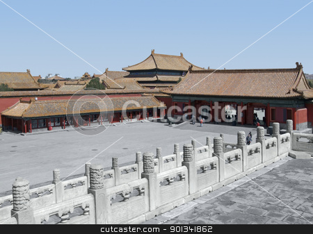 Forbidden City in China stock photo, scenery at the Forbidden City in Beijing (China) by prill