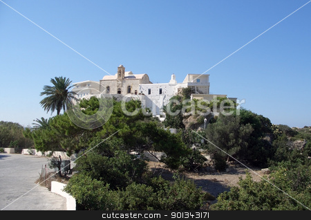 Cloister Hrissoskalitissa at Crete stock photo, pictoral scenery with the Cloister Hrissoskalitissa at Crete (Greece) on a bright summer day by prill