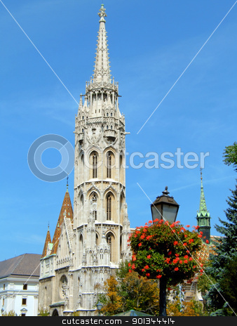 Matthias Church stock photo, The bell tower of Matthias Church on Buda hill in Budapest by Massimiliano Pieraccini