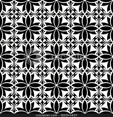 Seamless floral pattern stock vector clipart, Beautiful seamless floral pattern  by Ingvar Bjork
