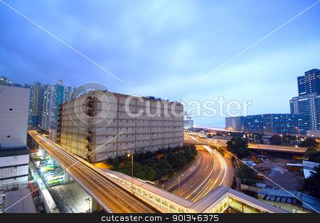 urban city sunset stock photo, urban city sunset by Keng po Leung