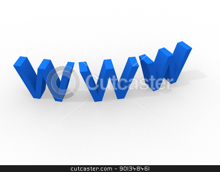 world wide web 3d  stock photo, world wide web 3d   by dacasdo