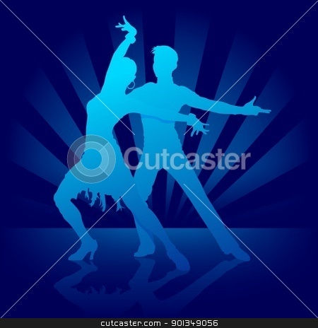 Dance Rumba stock photo, Dance Rumba - colored illustration by derocz