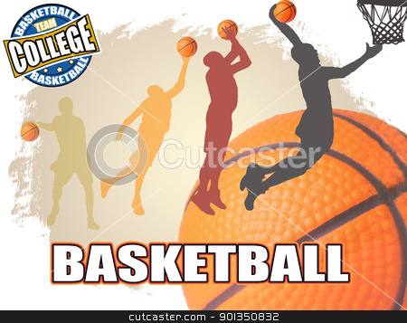 Basketball poster stock vector clipart, Basketball poster background, vector illustration by radubalint