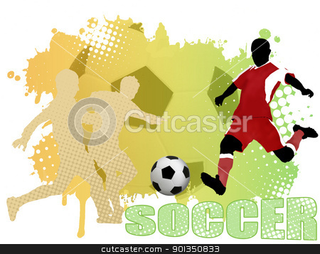 Soccer poster stock vector clipart, Soccer poster background, vector illustration by radubalint