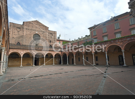 Bologna (Emilia-Romagna, Italy) - Historic church and portico stock photo, Bologna (Emilia-Romagna, Italy) - Historic church by clodio